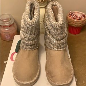 Girls Taupe Boots